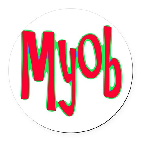 myob1d.png Round Car Magnet