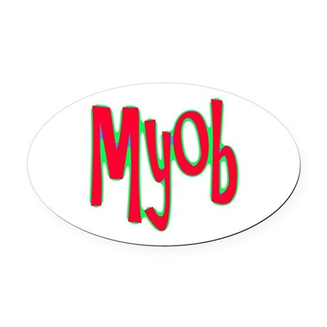 myob1d.png Oval Car Magnet