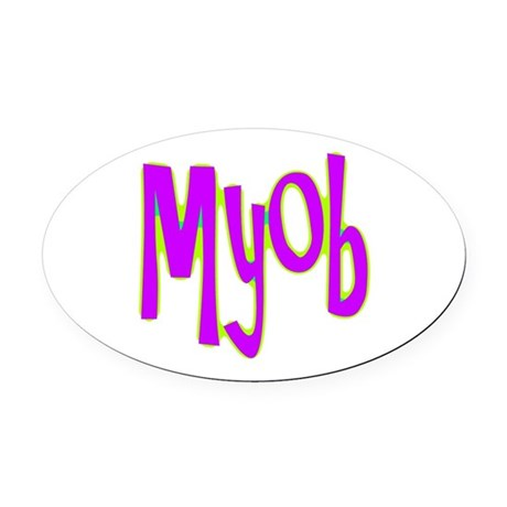 myob1e.png Oval Car Magnet