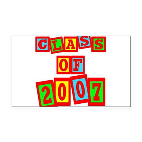 2007b.png Rectangle Car Magnet