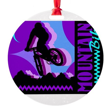 bike2.jpg Round Ornament