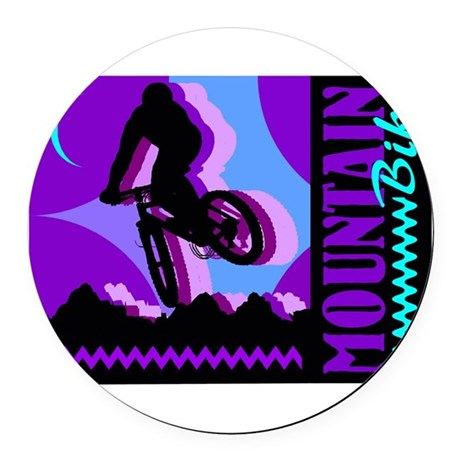 bike2.jpg Round Car Magnet