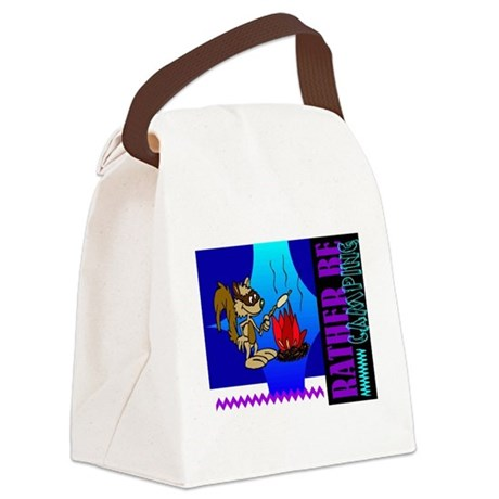 camping.png Canvas Lunch Bag