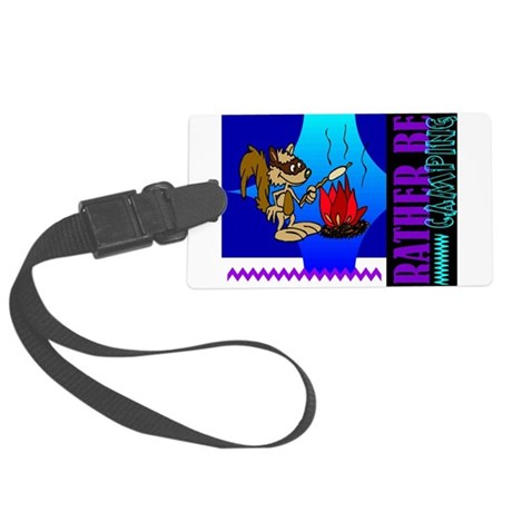 camping.png Large Luggage Tag
