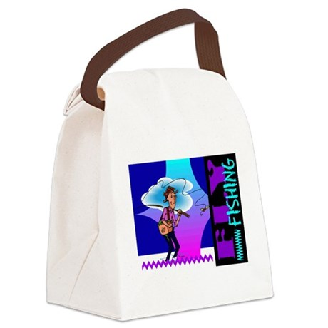 flyfishing.png Canvas Lunch Bag