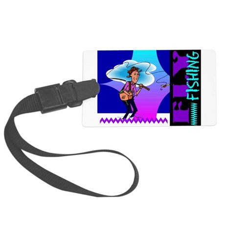 flyfishing.png Large Luggage Tag