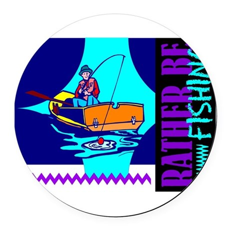 ratherfish.png Round Car Magnet
