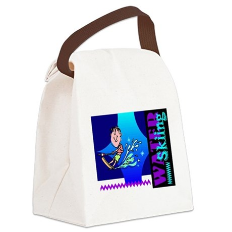 waterski.png Canvas Lunch Bag