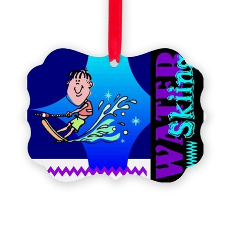 waterski.png Picture Ornament