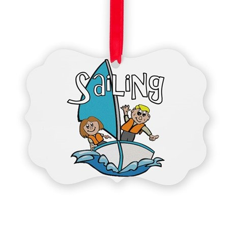 2-sailing.png Picture Ornament