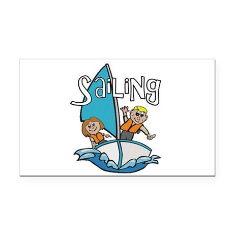2-sailing.png Rectangle Car Magnet