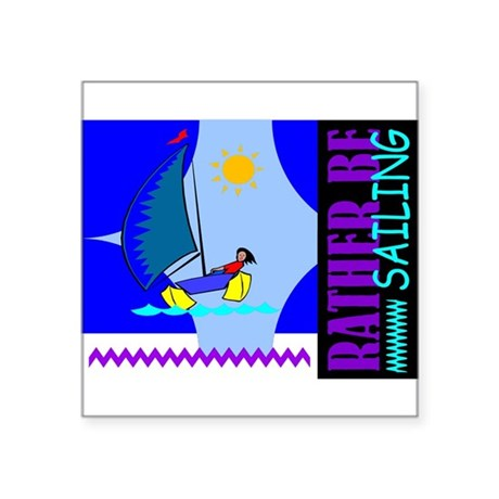 "sailing2.png Square Sticker 3"" x 3"""