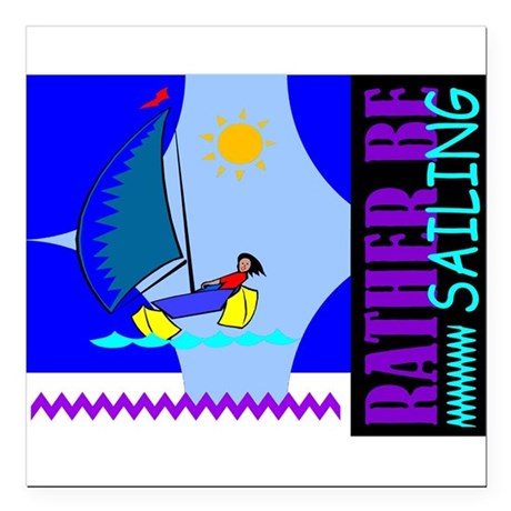 "sailing2.png Square Car Magnet 3"" x 3"""