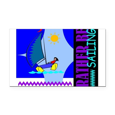 sailing2.png Rectangle Car Magnet