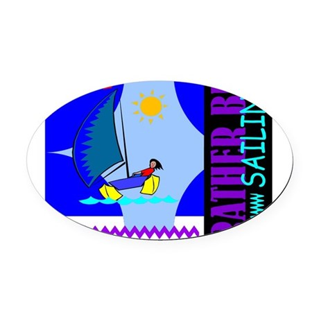 sailing2.png Oval Car Magnet