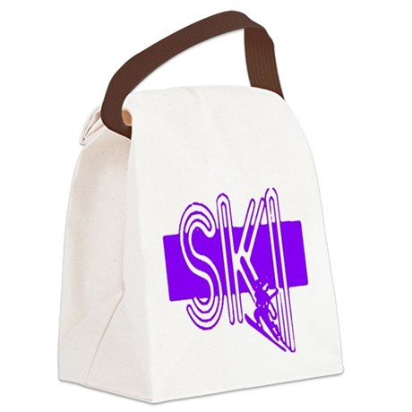 ski purple Canvas Lunch Bag