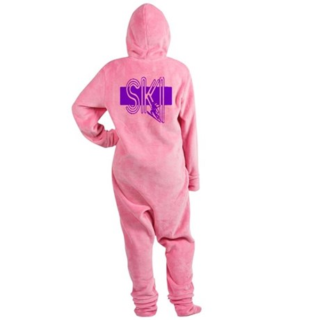 ski purple Footed Pajamas