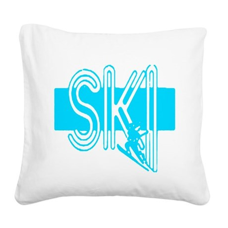 ski lt blue Square Canvas Pillow