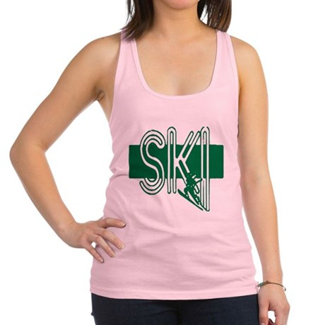 ski green Racerback Tank Top