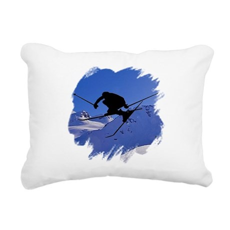 skiclk2.jpg Rectangular Canvas Pillow