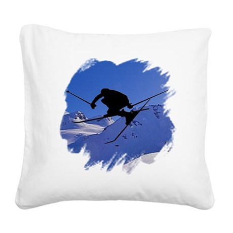skiclk2.jpg Square Canvas Pillow