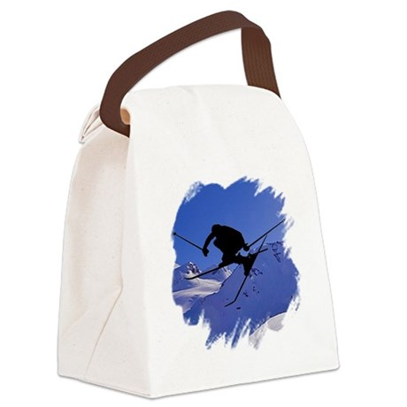 skiclk2.jpg Canvas Lunch Bag
