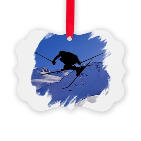 skiclk2.jpg Picture Ornament