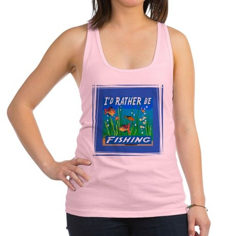 Fishing Racerback Tank Top
