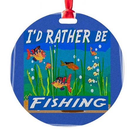 Fishing Round Ornament
