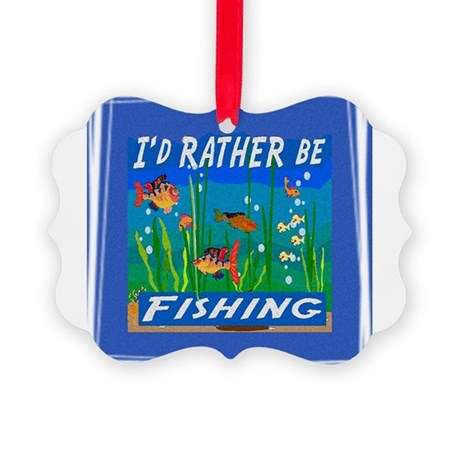 Fishing Picture Ornament