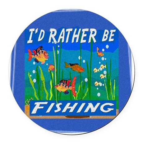 Fishing Round Car Magnet