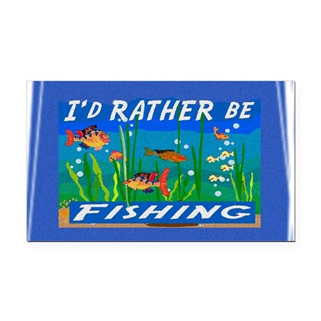 Fishing Rectangle Car Magnet