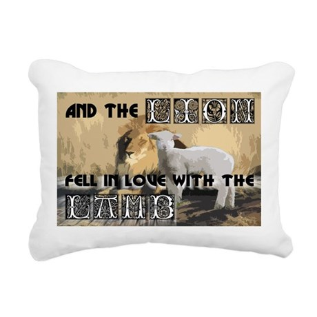 lamblion1a.jpg Rectangular Canvas Pillow