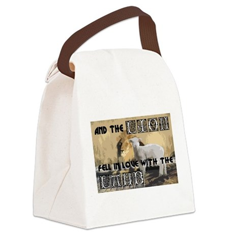 lamblion1a.jpg Canvas Lunch Bag