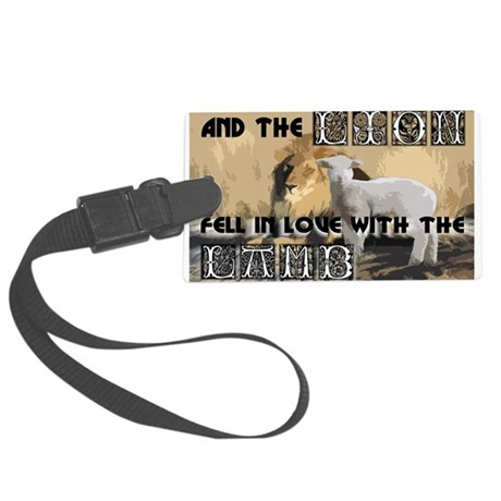 lamblion1a.jpg Large Luggage Tag