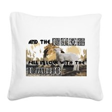 lamblion1a.png Square Canvas Pillow