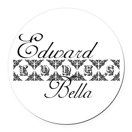 edward.png Round Car Magnet