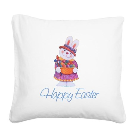 rabbit4.png Square Canvas Pillow