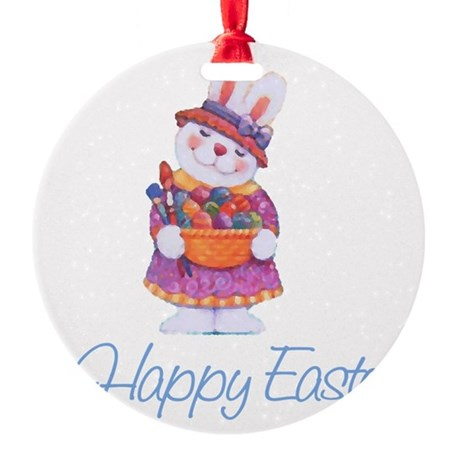 rabbit4.png Round Ornament