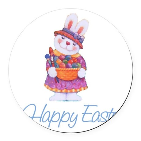 rabbit4.png Round Car Magnet