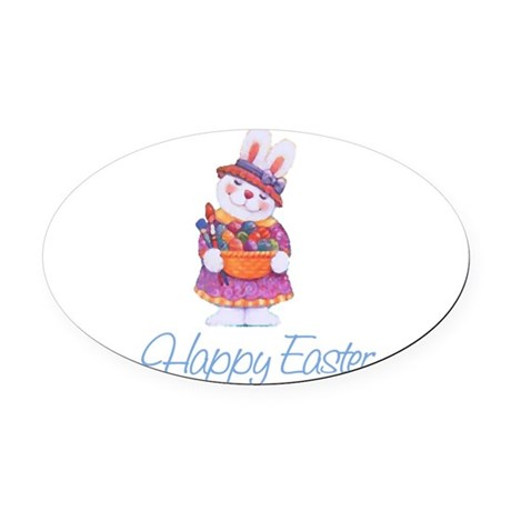 rabbit4.png Oval Car Magnet