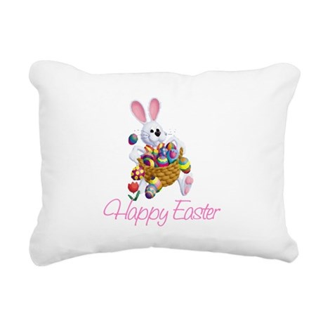 rabbit3.png Rectangular Canvas Pillow