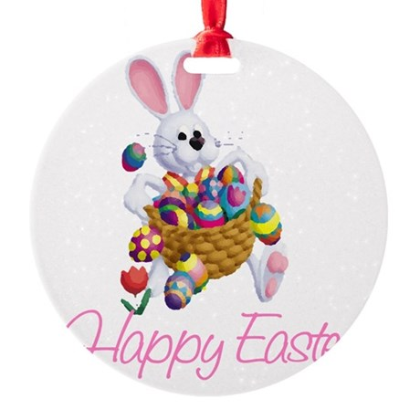 rabbit3.png Round Ornament