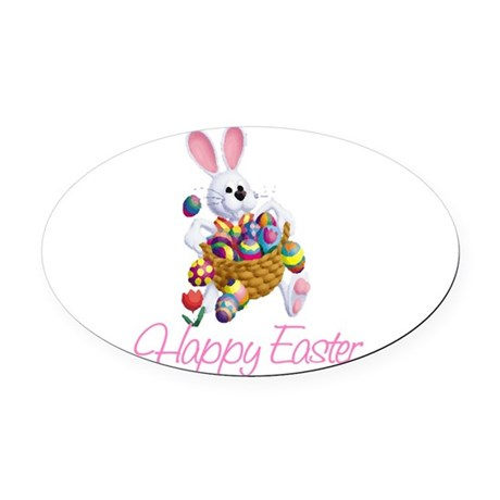 rabbit3.png Oval Car Magnet