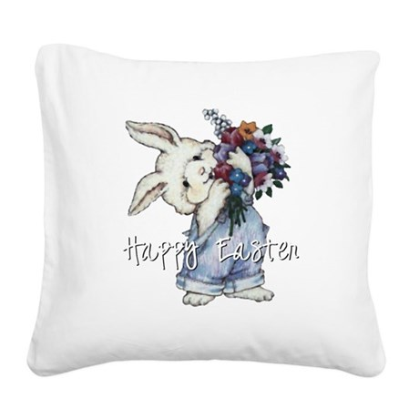 rabbit2.png Square Canvas Pillow