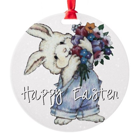 rabbit2.png Round Ornament