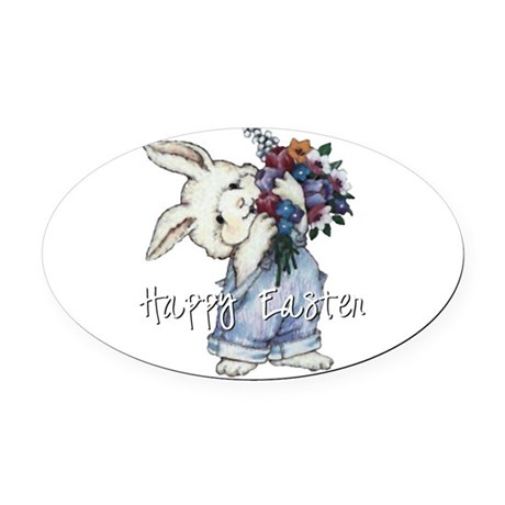 rabbit2.png Oval Car Magnet