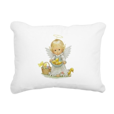 Easter Angel Rectangular Canvas Pillow