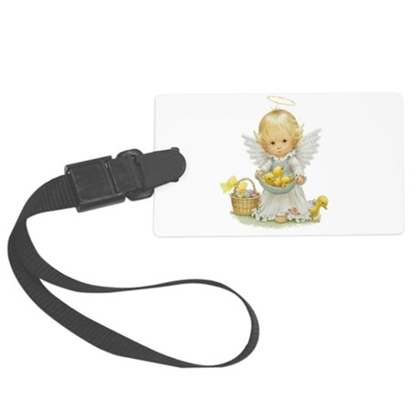 Easter Angel Large Luggage Tag