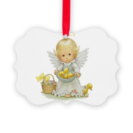 Easter Angel Picture Ornament